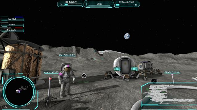 AHOY on the moon