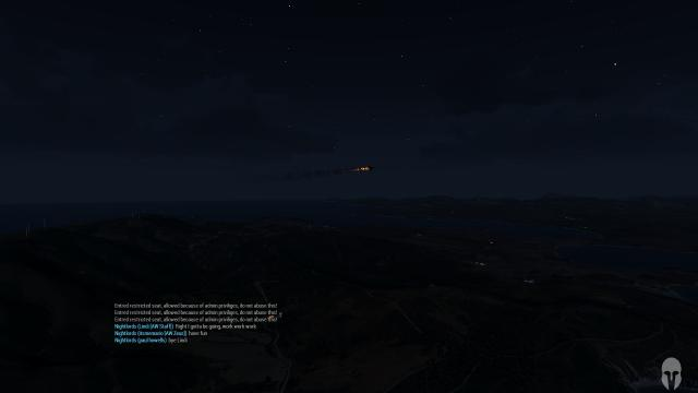 Shooting star sighted over Altis
