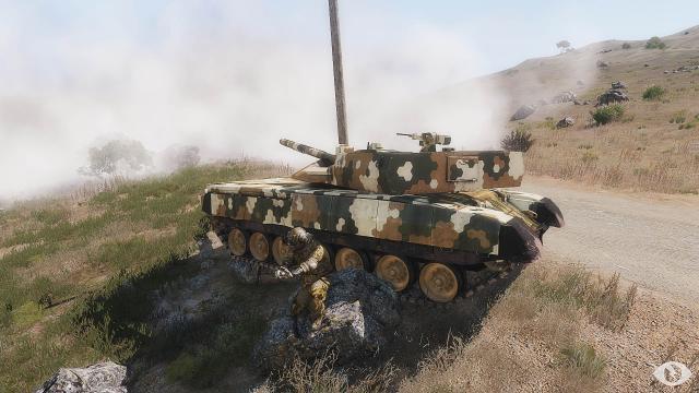 Tank crew repairing